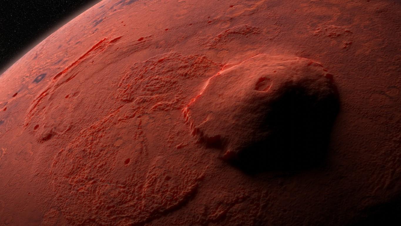 Olympus Mons volcan sur Mars