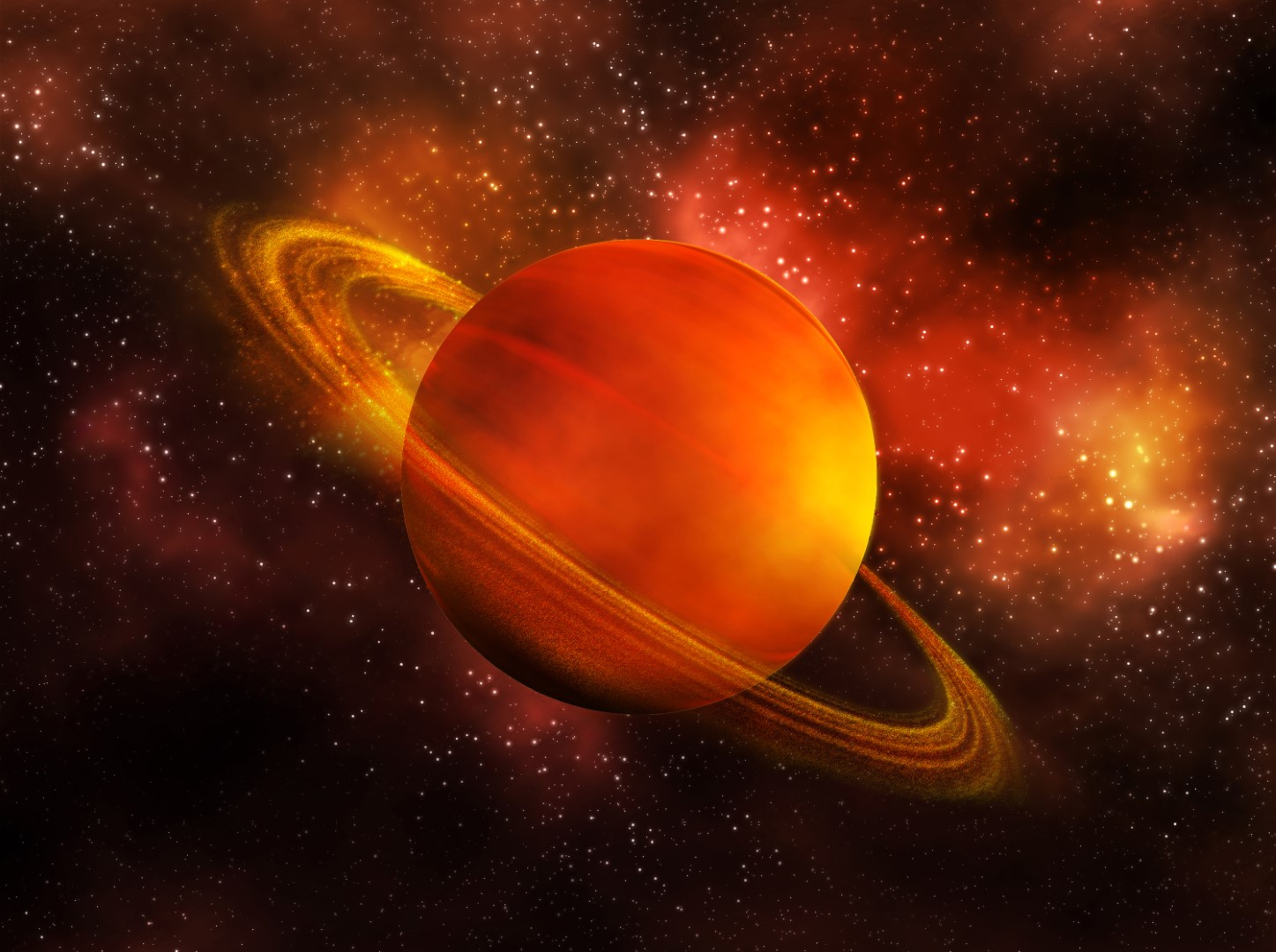 Jupiter planete avec anneau